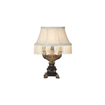 River of Goods Downton Abbey 12.5'' H Fringe Accent Lamp