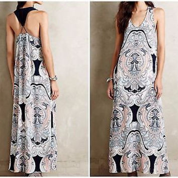 Anthropologie Petrine Maxi Dress Sz S - NWT