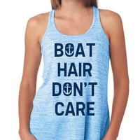 Boat Hair Don't Care Flowy Tank Top