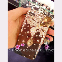 iPhone 4 Case, iPhone 4s Case, iPhone 5 Case, Bling iPhone 4 case, bling iphone 5 case, iphone 4 case bow, stylish iphone 5 case