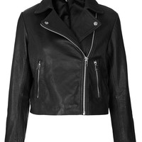 Boxy Leather Biker