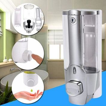 DCCKFS2 350ml Plastic Liquid Soap Dispenser Wall Mount Sanitizer Dispensador For Kitchen Bathroom Shower Shampoo Vessel Container