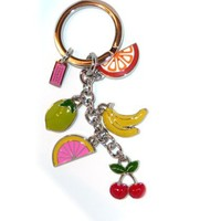Coach Enameled Fun Fruit Keyring / Purse Charms / Key Fob Watermelon Cherries, Bananas and more STyle 92094