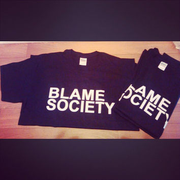 BLAME SOCIETY TSHIRT | Jay-Z T-Shirt | Beyonce Jay Z - On the Run Tour | OTR