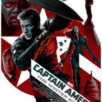Captain America Winter Soldier Movie Poster 24in x36in