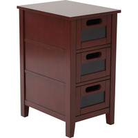 OSP Avery Chalkboard Chair Side Table, Vintage Wine Finish