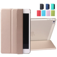 Fashion PU Leather Slim Magnetic Front Smart Cover Skin + Back Hard PC Shell Case For Apple ipad mini 4 Auto Sleep Flip Stand