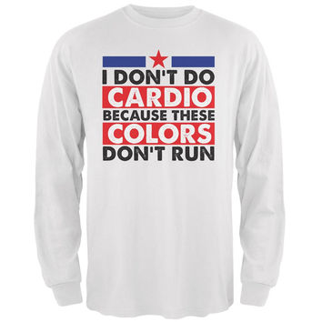 4th Of July I Don/'t Do Cardio Red Adult Tank Top