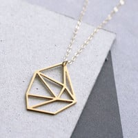 Geometric Diamond Necklace - Wild Thing Studio