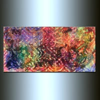 Large ORIGINAL Abstract Painting Modern Fine Art Contemporary Gallery Painting Ready To Hang by Henry Parsinia 48x24
