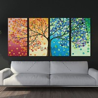 Canvas Wall Art:  The Color Leaf Tree Wall Art on Canvas