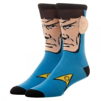 ONETOW Star Trek Spock With Ears Crew Socks