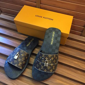 shosouvenir  LV  Casual Fashion  Floral Print Sandal Slipper Shoes