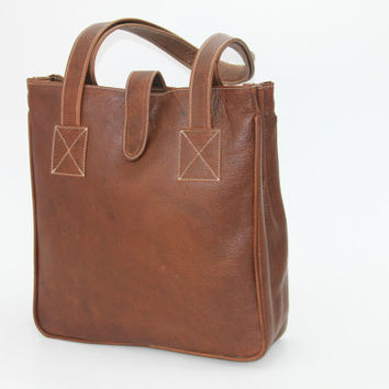 Leather Tote Leather Handbag by WyntopiaLeather on Etsy