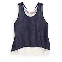 Kiddo - Girl's Layered Lace Chiffon Tank Top