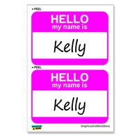 Kelly Hello My Name Is - Sheet of 2 Stickers