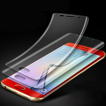 YKSPACE 2Pcs Soft 3D Full Cover Front Screen Protector Film For Samsung Galaxy S6 S7 Edge S8 S9 Plus Note 8 7 FE Clear