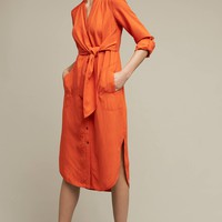 Tied Araceli Shirtdress