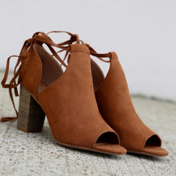 Set Me Free Lace-Up Wedges By BC Footwear