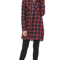 Basic Intuition Plaid Shirt - Red