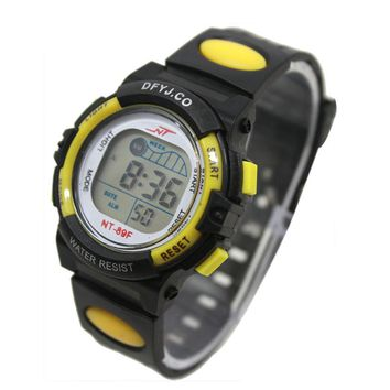 Girl Boy LED Light Wrist Watch Alarm Date Digital Multifunction Sport