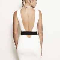Vanessa Bodycon Cut-Out Backless Banded Dress - More Colors
