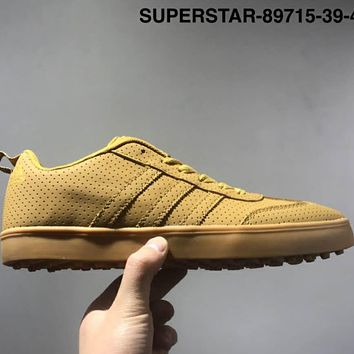ADIDAS SUPERSTAR Leather cloth high-quality leisure men's shoes L-CSXY Yellow