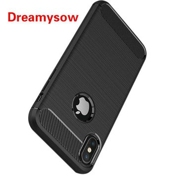Carbon Fiber Case For iphone XS Max XR Luxury Protective Back Cover Case for iphone 5 5S SE X 10 XS Max XR Mobile Phone Shell