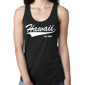 Hawaii Ladies  Racerback Tank Top