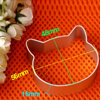 Cat Head Shaped Christmas Kitchen Tools Aluminium Alloy Cookie Cake Plunger Cutter