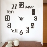 Umbra Numbra Wall Clock (Black)