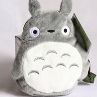 Anime My Neighbour Totoro Cute Card Bag Wallet Holder Zipper Kawaii Gray Hanging
