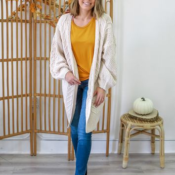 Different Directions Cardigan - Cream