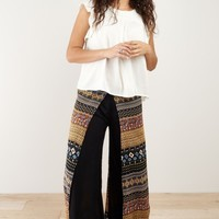 Lorena Striped Faux Wrap Pants