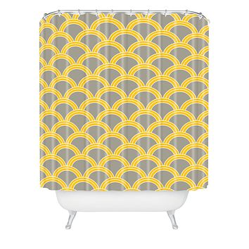Caroline Okun Jaune Shower Curtain