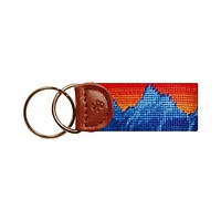 Mountain Sunset Needlepoint Key Fob in Mutli by Smathers & Branson