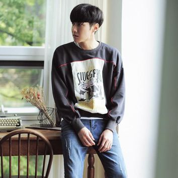 Mens Cool Graphic Pullover Sweater