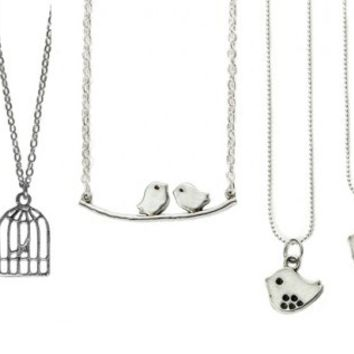 Shabby Chic Bird Necklaces-4 Styles-Perfect Holiday Gifts