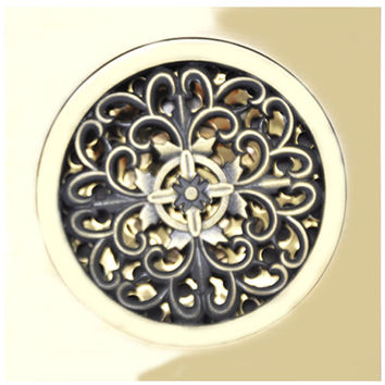 Antique Copper Anti-Odor Square Four-Leaf Clover Bathroom Accessories Sink Floor Shower Drain Cover Luxury Sewer Filter K-8831