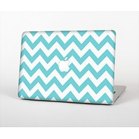 The Subtle Blue & White Chevron Pattern Skin Set for the Apple MacBook Pro 15""