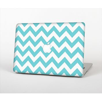 The Subtle Blue & White Chevron Pattern Skin Set for the Apple MacBook Air 11""