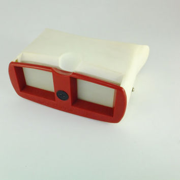 Vintage Stereoscope - 3 Stereo Photography Stereo Slide Viewer, Soviet Film Viewer White Grey 35 mm Accessory For Photography CCCP