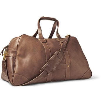 J.Crew - Montague Washed-Leather Weekend Bag | MR PORTER