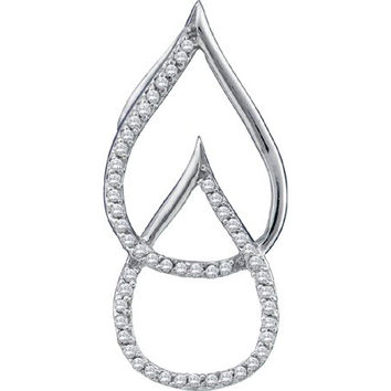 Diamond Micro-pave Pendant in 10k White Gold 0.15 ctw
