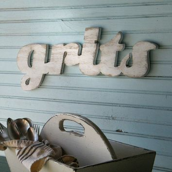 Grits Sign Southern Breakfast Kitchen Food Girls Raised in the South