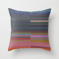 scanner stripes Throw Pillow by duckyb