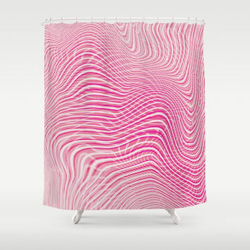 Pink Mindset Shower Curtain by cadinera