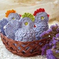Easter crochet chicken cozy Set of 3 Easter egg decoration egg cover chicks blue egg warmers kitchen decor spring decor Easter gift cosies Easter table kitchen decor