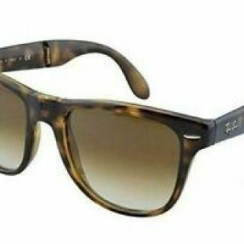 Ray-Ban Folding Wayfarer Havana Frame Brown Gradient Lens Sunglasses RB4105-7105