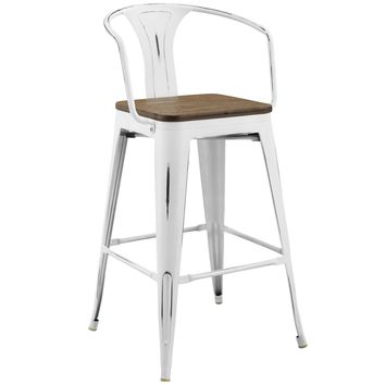Promenade Bar Stool White EEI-2818-WHI